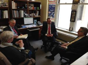 Rep. Roy meeting with Education Commissioner Mitchell Chester, Curriculum Direct Susan Whettle, and Rep. Jonathan Hecht.
